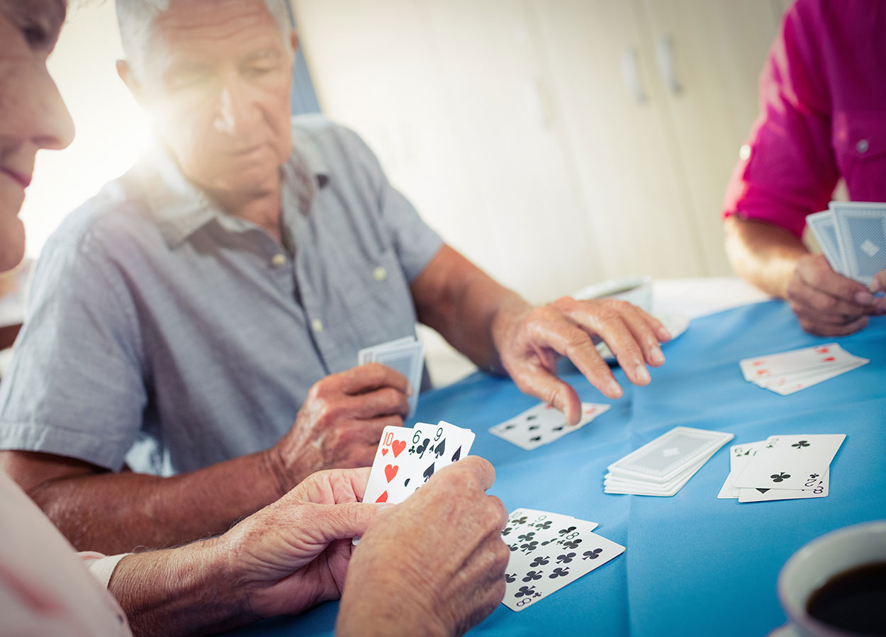 Older Folks Playing Cards